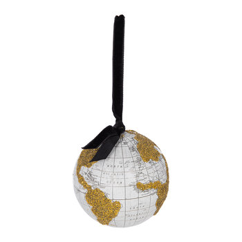 World Globe Bauble - Blue