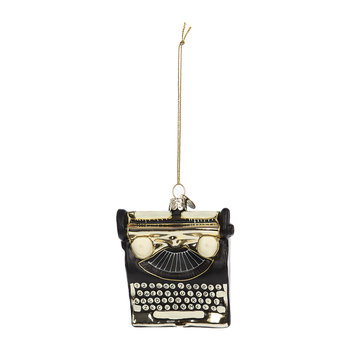 Typewriter Tree Decoration - Black/Gold