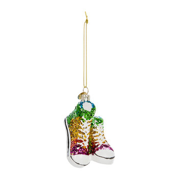 Rainbow Shoes with Glitter Tree Decoration