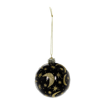 Universe in Glitter Bauble - Black/Gold