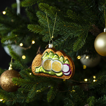 Sandwich with Egg and Avocado Tree Decoration