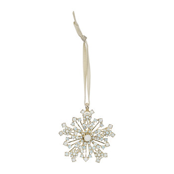 Snowflake Christmas Tree Decoration - Opal
