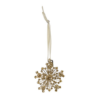 Snowflake Christmas Tree Decoration - Topaz