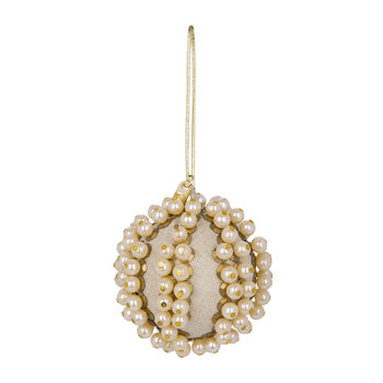 Pearl Ball Christmas Tree Decoration - Linen