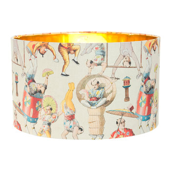 Asian Circus Drum Lamp Shade