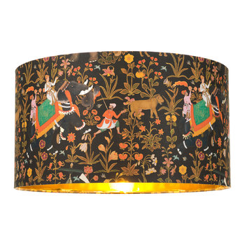 Hindustan Anthracite Drum Lamp Shade