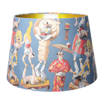 Asian Circus Cone Lamp Shade - Blue