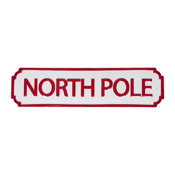 North Pole Wall Sign