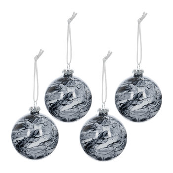 Marble Bauble - Set of 4 - Grey