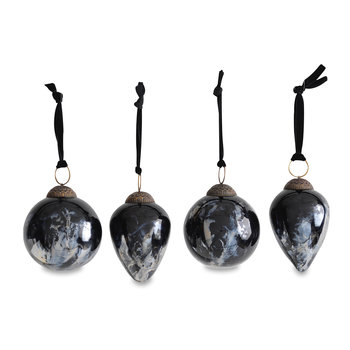 Danoa Bauble - Set of 4 - Aged Smoke & Black