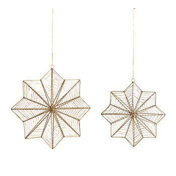 Ngoni Giant Hanging Star Tree Decoration - Brass