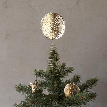 Sankari Round Tree Topper - Brass