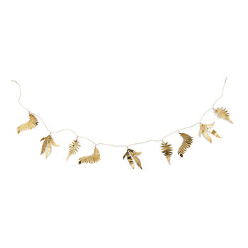 Tabwa Mixed Leaf Garland - Brass