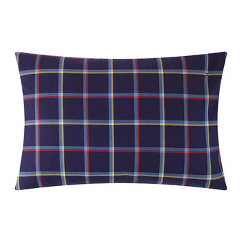 Tartan Pillow Case - Navy