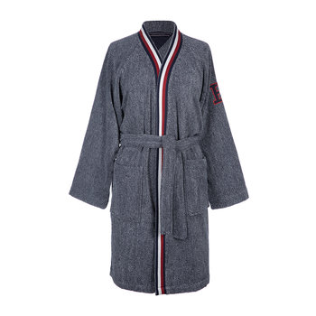 Outline Font Bathrobe - Navy