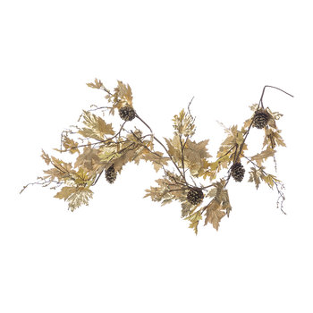 Maple Leaf Garland - Gold