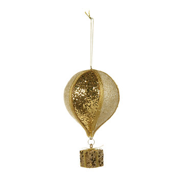 Balloon with Gift Ornament - Gold