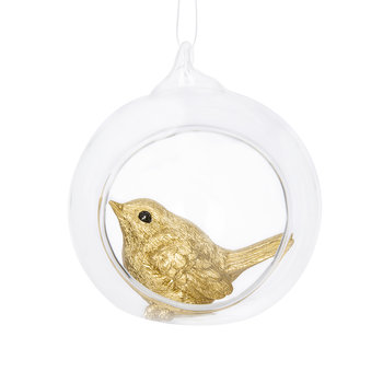 Bauble with Bird Inside - Set of 2