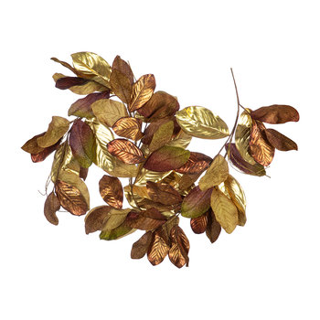 Metallic Leaf/Twig Garland - Copper/Gold