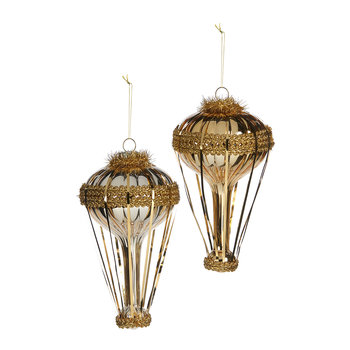 Balloon Tree Decoration - Set of 2 - Champagne/Gold