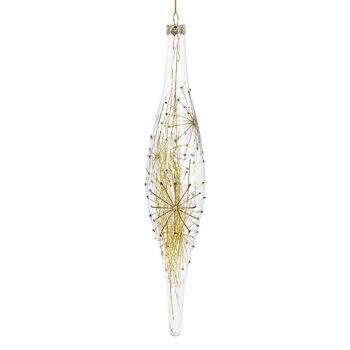 Starburst Icicle with Tinsel Tree Decoration
