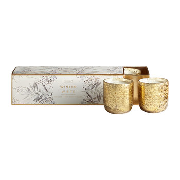 Mini Luxe Sanded Mercury Scented Candle - Set of 3 - 70g - Winter White