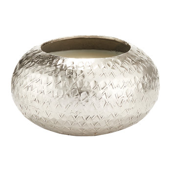 Demi Textured Metal Scented Candle - 200g - Balsam & Cedar
