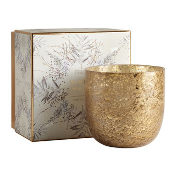 Luxe Sanded Mercury Glass Scented Candle - Winter White - 625g