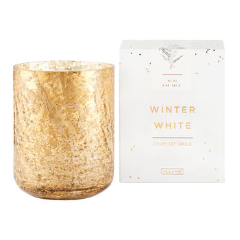 Luxe Sanded Mercury Glass Scented Candle - Winter White