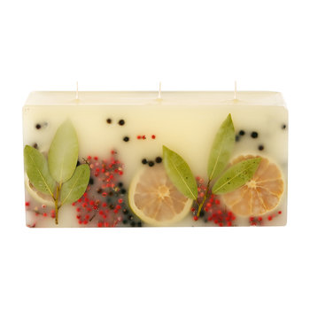Botanical 3 Wick Brick Scented Candle - Bay Garland