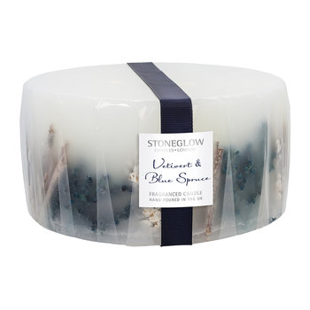 Vetivert & Blue Spruce 3-Wick Pillar Candle