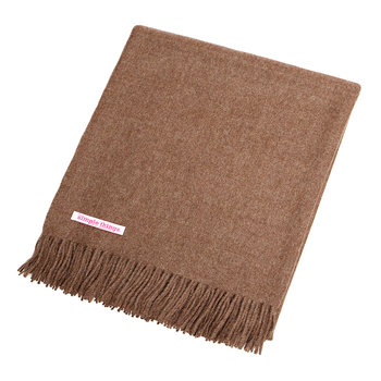 Baby Alpaca Throw Natural - Cocoa