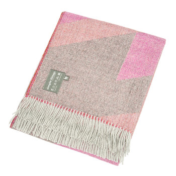 Baby Alpaca Throw  - Ski - Pink/Orange