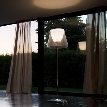 KTribe F Floor Lamp with Dimmer - Aliminized Silver