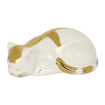 Gold/White Cat Ornament