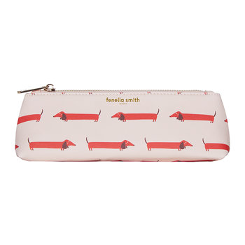 Dachshund Vegan Leather Pencil Case