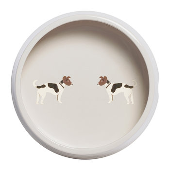 Jack Russell Round Dog Bowl