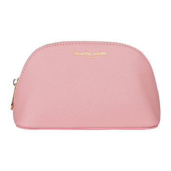 Vegan Leather Oyster Cosmetic Case - Blush