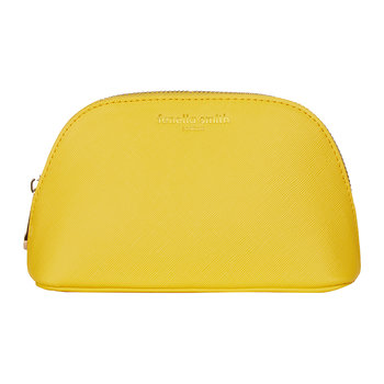 Vegan Leather Oyster Cosmetic Case - Yellow