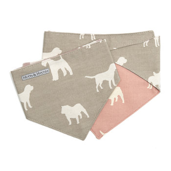 M&H Reversible Neckerchief - French Gray/Old Rose
