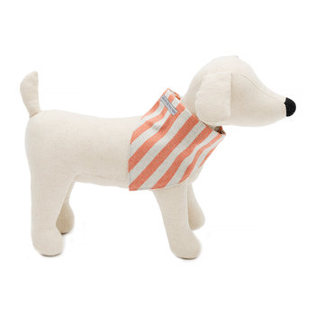 Stripe Brushed Cotton Neckerchief - Orange