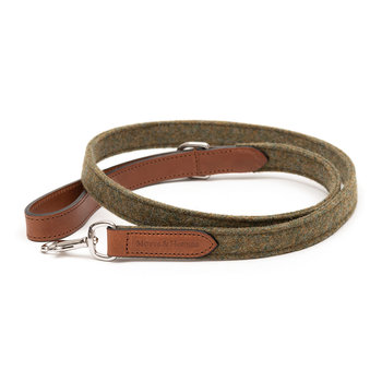Leather & Tweed Lead - Forest Green/Tan