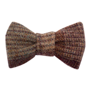 Grape Tweed Dog Bow Tie