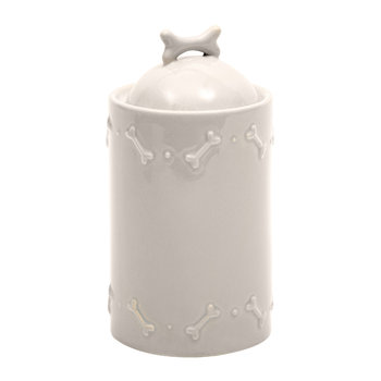 Ceramic Biscuit Jar - French Grey