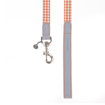Clara Check Lead - Orange/Lavender