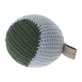 Crochet Baseball Dog Toy - Forest/Ice