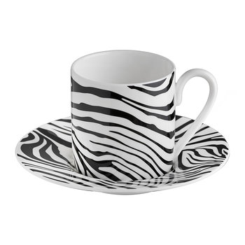 Zebrage Coffee Cup & Saucer - Set of 6