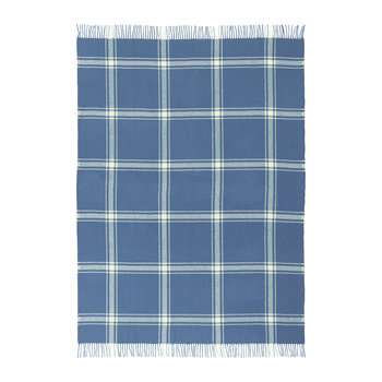 Plaid à carreaux Papa - Bleu/jaune