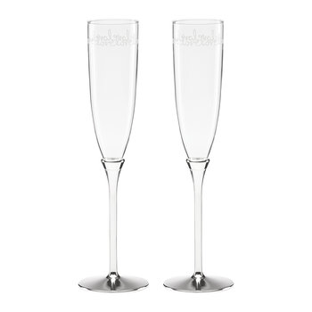 Key Court Toasting Flutes - Set of 2