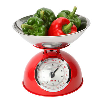 Mechanical Scales with 2L Bowl - Red